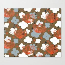 Spring Garden M+M Nutmeg by Friztin Canvas Print