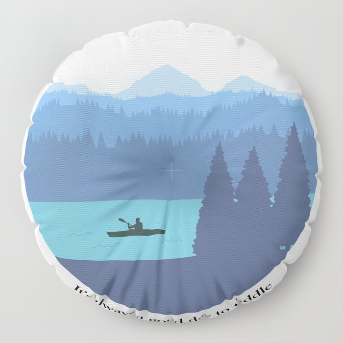 It's always a good day to paddle Floor Pillow