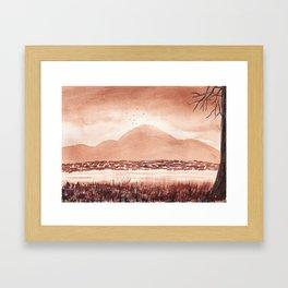 Monochromatic Landscape Painting Framed Art Print