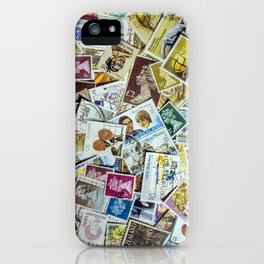 Postage Stamp Collection iPhone Case