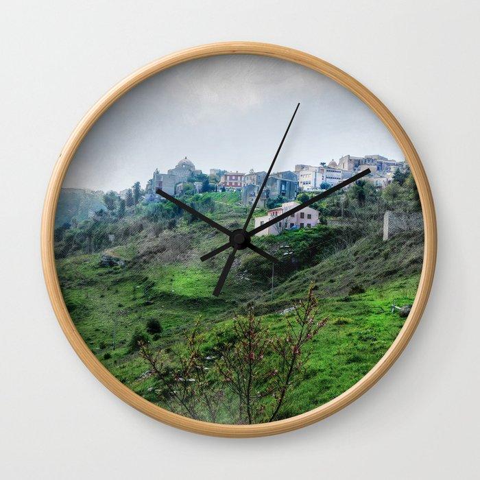 Erice art 5 Wall Clock