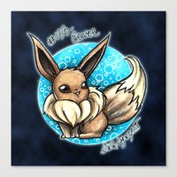 eevee Canvas Prints featuring 133- Eevee by Lyxy