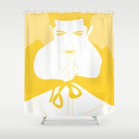 vampire Shower Curtains featuring Vampire by Jessica Slater Design & Illustration