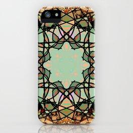 Ornate Tweed and Sage Mandala Rug iPhone Case
