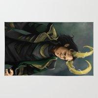 loki Area & Throw Rugs featuring Loki by toibi