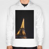 eiffel tower Hoodies featuring Eiffel Tower by Emily Werboff