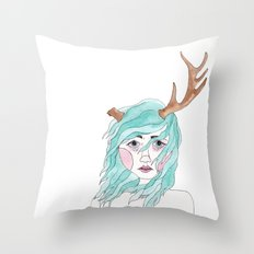 Antler Throw Pillow