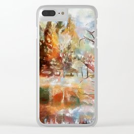 Canaan Valley Pond PhotoArt Clear iPhone Case