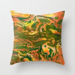 Marbleized and Glazed Throw Pillow