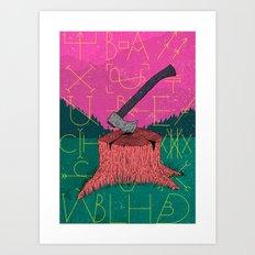Chop Art Print