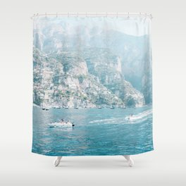 Ease By The Mountains Shower Curtain