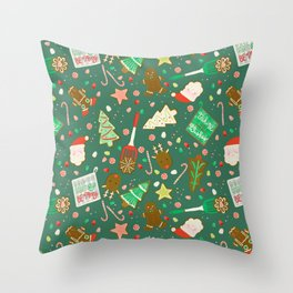 Baking Up Warm Wishes Throw Pillow