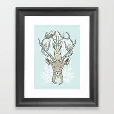 Friends & Birds Framed Art Print