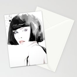 Fashion Painting #8 Stationery Cards