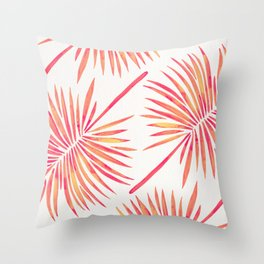 Tropical Fan Palm – Pink Palette Throw Pillow