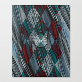 Geometric Abstract - Modern Abstract - Geometric Pattern - Pattern Design - Blue, Grey - Wood Grains Canvas Print