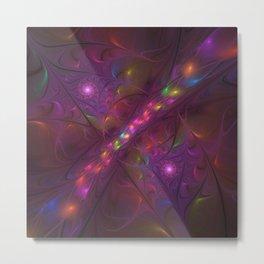Colorful And Luminous Fractal Art Metal Print