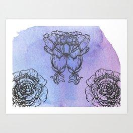 Carnation and Peony Art Print