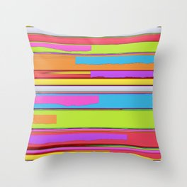 Side streets Throw Pillow