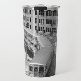 Brown Line Travel Mug