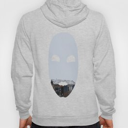 Hopeless, Abandoned, and Alone Under Grey Snow Filled Sky Hoody