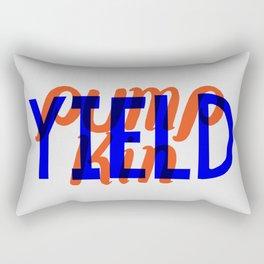 Yield, Pumpkin Rectangular Pillow