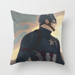 CaptainAmerica Throw Pillow