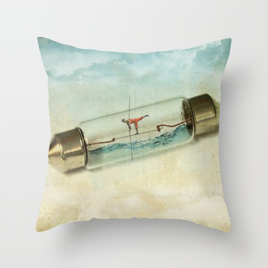 Fuse wire walker Throw Pillow
