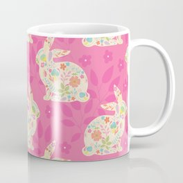 Pink Spring Rabbits Coffee Mug