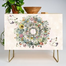 Circle of life- floral Credenza