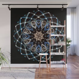 Atomic Blue 16:8:32 Wall Mural
