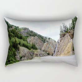 Drive Around the Curve onto a Shelf Above the Spectacular, but Frightening, Uncompahgre Gorge Rectangular Pillow