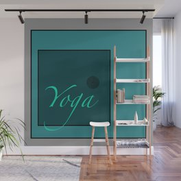 Yoga Blue Wall Mural