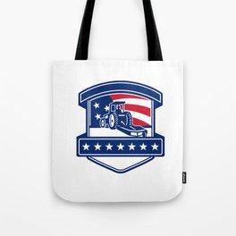 Brush Hogging Services USA Flag Badge Tote Bag