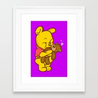 pooh Framed Art Prints featuring Pooh And Teddy by Artistic Dyslexia