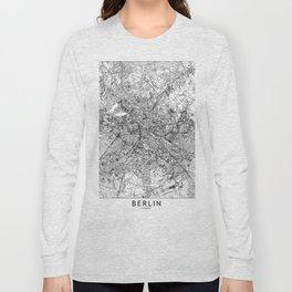 Berlin White Map Long Sleeve T-shirt