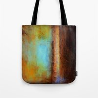 swimming Tote Bags featuring Swimming by Liz Moran
