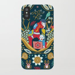 Technological folk art iPhone Case