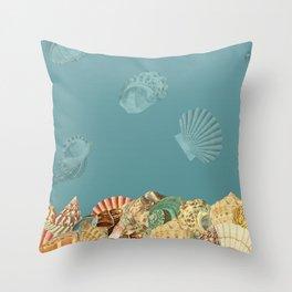Sea shells Composition 2 Throw Pillow