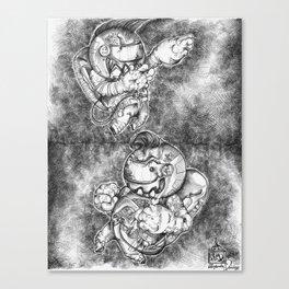 Petite Astronauts  Canvas Print