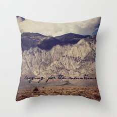 longing for the mountains Throw Pillow