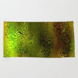 Green forest liquid Beach Towel