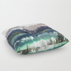 Green Blue Lake and Mountains - Eibsee, Germany Floor Pillow