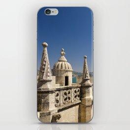 ornamental turrets in the Torre de Belem, Lisbon iPhone Skin