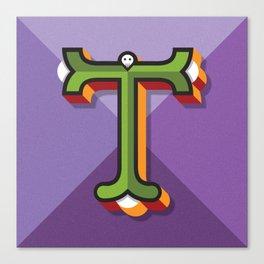 "Typographic Letter ""T"" Canvas Print"