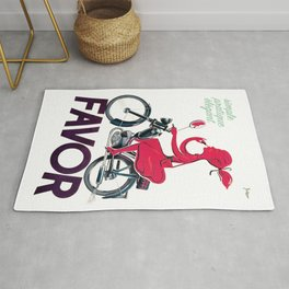 1950 Lipstick Girl Usines Favor Moped Cycles Vintage Poster Artwork for Prints Posters Tshirts Rug