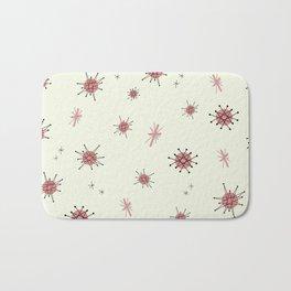 Mid Century Atomic Starburst Pink Pattern Bath Mat