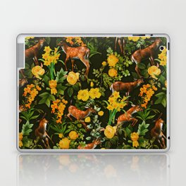 Deer and Floral Pattern Laptop & iPad Skin