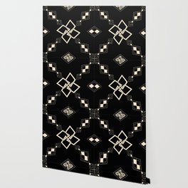 Black and White Tile Wallpaper