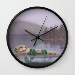 Sleeping Otter Wall Clock